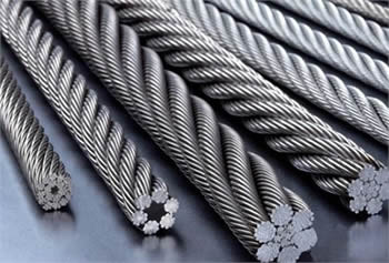 Some steel wire ropes with fiber core or independent wire rope core.